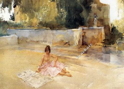 The Newspaper by Russell Flint