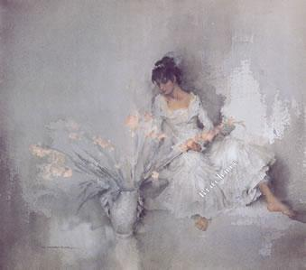 A Gift Of Gladioli by Russell Flint