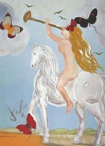 Lady Godiva by Salvador Dali