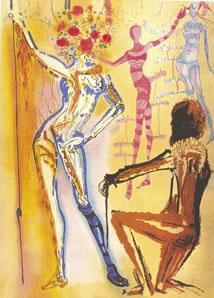 Homage To Fashion by Salvador Dali