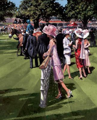 Royal Ascot - Canvas - Board Only by Sherree Valentine Daines