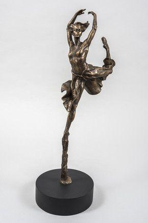 Leap Of Faith (Cold Cast Bronze Resin) by Carl Payne