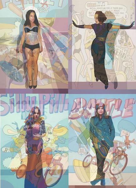 Personal Study - Revealed Portfolio (Set Of 4 Boxed Canvas) by Stuart McAlpine Millar
