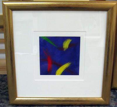 Blue Abstract I - Gold Frame
