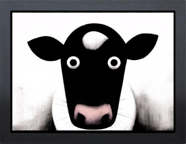 Moo - Framed Box Canvas by Doug Hyde