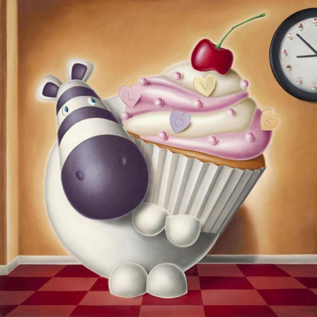 Cake O'Clock - Box Canvas by Peter Smith