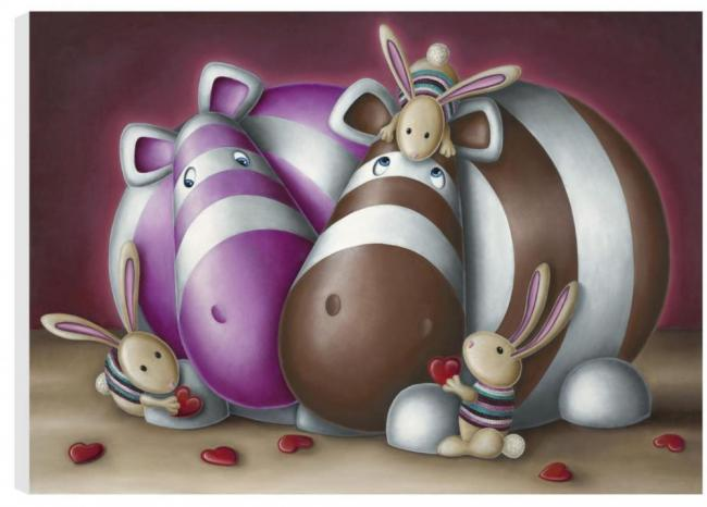 Meet The Family - Box Canvas - Box Canvas by Peter Smith