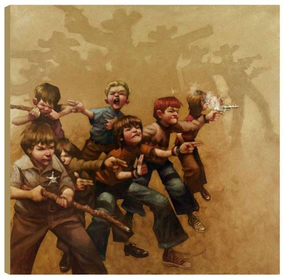 Guns Of The Magnificent Seven - Box Canvas - Box Canvas by Craig Davison