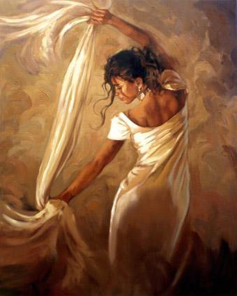 Dance Of Satin - Framed