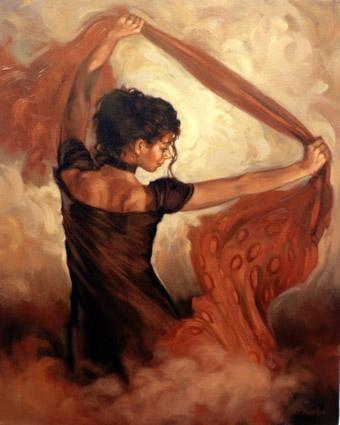 Dance Of Silk - Framed